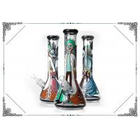 China Manufacture Bong 7MM Glass Cool Smoking Pipes Hand Drawing Art On Glass Water Bongs on sale