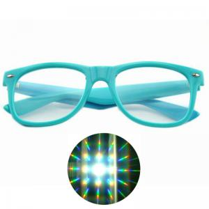 China Premium Diffraction Glasses Clear Lens 3D Glasses- Ideal For Raves, Music Festivals on sale