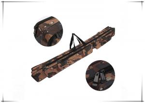 China Double Layer Camo Tackle Bag Fishing Rod Carrier 47.2 Inch × 6.3 Inch on sale