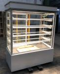 1.5m Bakery Glass Showcase , Vertical Sweet Shop Stainless Steel / Marble Base