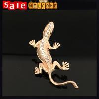 Golden Crystal Gecko Brooch,Crystal Wall Lizard Brooch ,Statment Snake Rhinestone Pin