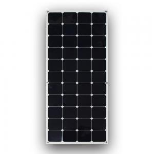 China Lightweight 100W Flexible Pv Monocrystalline Solar Panel IP67 Junction Box With Diodes on sale