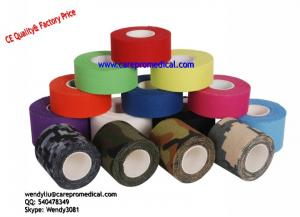 China Coach Tape Rigid Printed Athletic Sports Tape Cotton Fabric & Medical Glue Tape on sale