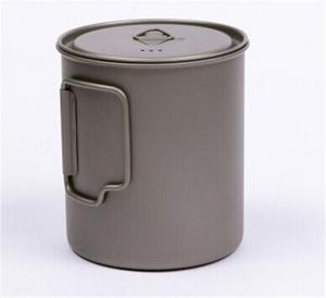 China titanium single pot with lid,Pure titanium cup 750 ml (with cover) on sale