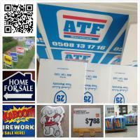 China 24x18 Custom Screen Printing Yard Signs , 96 X 48 Lawn Signs on sale
