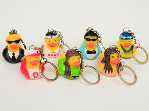 China OEM Singer / Swan Character Mini Duck Keychains Toy BPA Free Vinyl Material Kechain Duck toy on sale