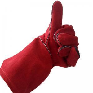 China Split Leather Welding Glove Welder Metalwork Soldering Protective Gloves Tool on sale