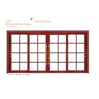 China Small Glass Aluminium Sliding Door Internal 1.6 mm Thickness For School on sale