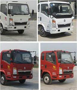China Kitchen Garbage Compactor Truck Diesel Engine Red And White Color on sale