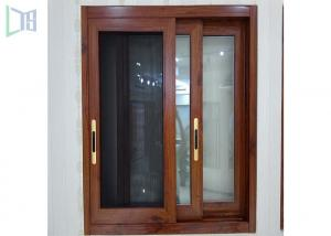China Red Subframe Powder Coated Aluminium Windows And Doors For Commercial / Villa on sale