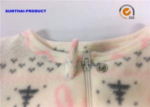 0a07a8065bcb Rabbit AOP Baby Girl Pram Suit Crew Neck Front Tab With Cap Snap ...