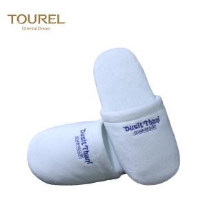 China White Cotton Slippers Hotel Woman Slippers Disposable Home Guest Slippers on sale