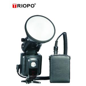 China L400 Dual mode with TTL outddor speedlite camera flash light with lithium power pack with black color on sale