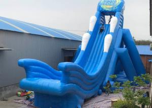 China 45ft Tall Giant Inflatable Slide , Inflatable Garden Slide Easy Installation on sale
