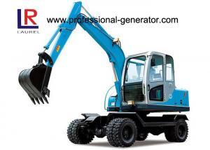 China 48kw 45kn Steering 4 Wheel Excavator , Rated Speed 2200r/min on sale