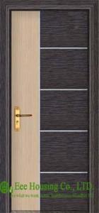 China Inward Swing Type PVC Wood Doors, with door frame/ door architrave/Hardware on sale