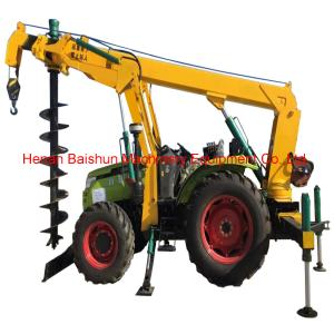 China Customer design cement pole erection machine pole drilling machine on sale