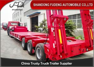 China Original Widely Lowboy Semi Trailer , Hydraulic Load Boy Trailer With Exposed Tire on sale