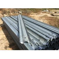China Anti Aging W Beam Highway Safety Barriers For Railway / Bridge / Road 4320mm on sale