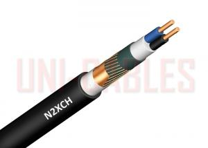 China N2XCH Bare Copper Power FRNC Cable Black Outdoor With Concentric Protective Cu Wire Concrete on sale
