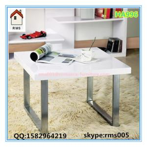 China white MDF hollow board with high gross painting coffee table HA996 on sale