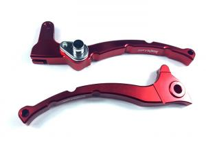 China High Strength Aluminum Motorcycle Decoration Accessories Handlebar Lever S42 on sale