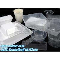Airtight leakproof microwave custom rectangle plastic meal compartment bento lunch box food storage container with FOOD