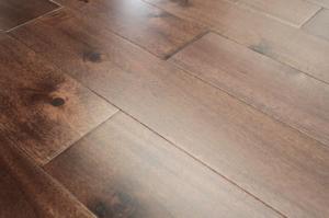 China Stained Large Leaf (big Leaf) Acacia solid hardwood flooring on sale