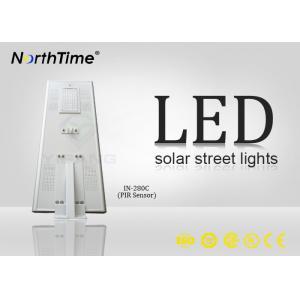 China High Brightness Solar Panel Street Lights , Integrated Solar Light Street Lamp With Sensor on sale