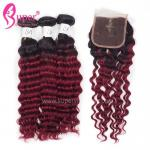 18 20 22 Inch Black To Red Blonde Ombre Hair Extensions Dye For Dark Hair