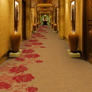 China EAKA factory direct sale commercial action backing durable nylon hotel corridor carpet on sale