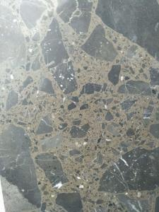 China Maron Emperador Dark Quartz Stone Tiles Recyclable Feature Eco - Friendly on sale