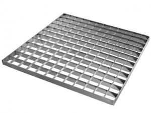 China Heavy Duty Metal Building Materials Stair Treads Galvanized Steel Bar Grating Weight on sale