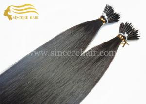 China 22 Double Drawn Pre Bonded Hair Extensions for sale - 1.0 Gram Straight Black Nano Hair Extensions For Sale supplier