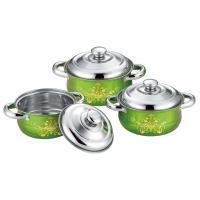 Food Grade Ss Kitchen Cookware Sets 6pcs Colorful 16cm To 20cm Sauce Pot
