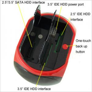 "Quality USB2.0&e-SATA to 2.5 3.5""IDE&SATA double slots multi-function HDD docking for sale"