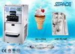 3 Flavor Soft Serve Commercial Ice Cream Maker , Restaurant Ice Cream Machine