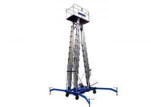China Portable Three Mast Hydraulic Scissor Lift Table Aluminum Alloy For Warehouse / Factory on sale