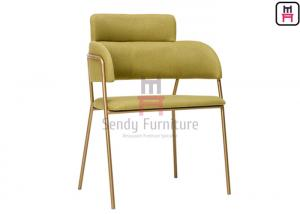 China Customized Stainless Steel Restaurant Chairs , Gold Rose Stainless Steel Dining Chairs on sale