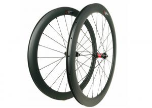 China 60MM Road Bike Disc Brake Wheels 700C DT240S Central Lock With Full Carbon Fiber on sale