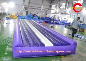 China Customizable PVC Purple Air Seat Cushion inflatable tumble track on sale