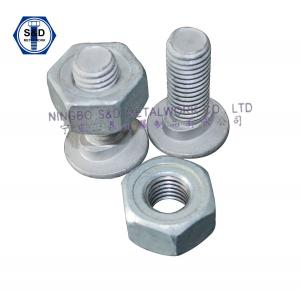 China Bolt Guard Rail Bolts ASTM A307 GradeA With Guard Rail Nuts SAE J995 Grade2 on sale