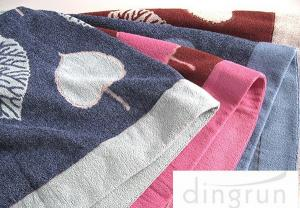 China Reactive Dyes Colorful Bath Towels Pure Cotton , Adult Bath Towels Quick Dry on sale