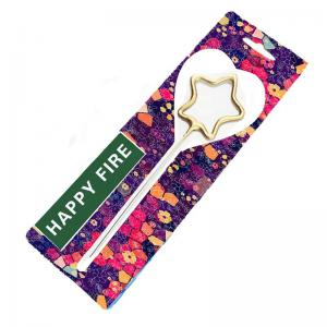 China Silver Or Gold Sparklers Heart / Five - Pointed Star Shape With Blister Card on sale