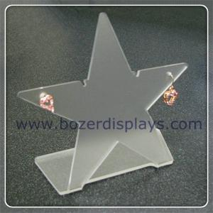 China Clear Star Shaped Acrylic Earring Holders on sale