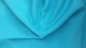 China Blue 100% Poly Pique Double Knit Fabric For Sportswear Clothing / Bedding on sale