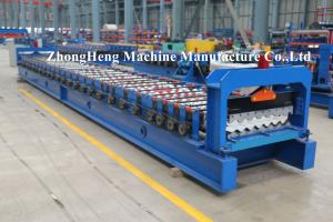 China PPGI Roofing Sheet Roll Forming Machine Step Tile Making Machine PLC control on sale