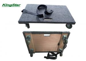 China Solid Top Deck Carpeted Moving Dolly , Furniture Mover Rollers Non Marking Swivel Casters on sale