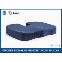 Pressure Relief Visco Memory Foam Wedge Seat Cushion For Plane And Wheelchair