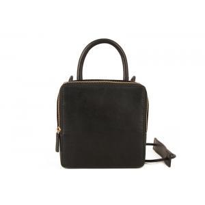 China Ladies Black Cow Split Leather Hand Bag on sale